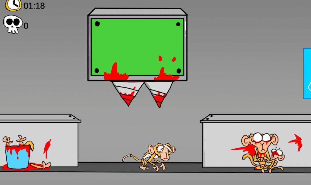 monkey fright video game